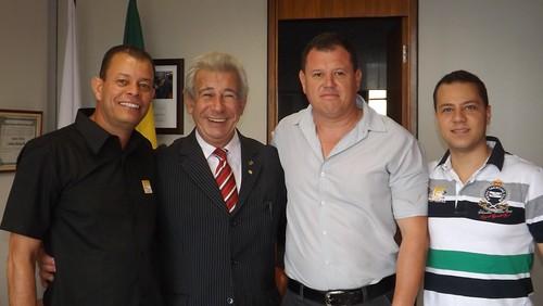 Deputado Antônio Roberto com os Vereadores de Lagoa Santa