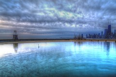 ripples_2 (F J R) Tags: lake chicago skyline clouds dawn waterscape thechallengefactory