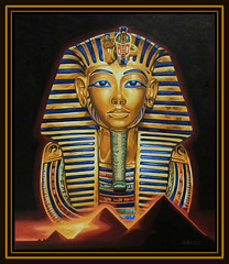 Die goldene Totenmaske des Tutanchamun (LOMO56) Tags: ägypten gemälde tutenchamun acrylgemälde ägyptischekunst tutanchaton