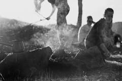"III36Feuer (MrSleepyhead) Tags: analog analogue blackandwhite schwarzweiss sw bwfilm bw monochrome film filmkorn nikonf5 nikon50mmafd14 kodak kodaktrix hc110e ausflug zelten camping camp zelt tent grill lagerfeuer bonfire fire wood wald macedonia mazedonien makedonien makedonia osogovo kocani road trip berge hills hügel portrait sun sunset sunshine sunlight sunrays sunny sundown smoke rauch sonne sonnenschein sonnenuntergang sonnenlicht sonnenstrahlen abendsonne menschen people balkan southeast europe"" suedosteuropa suedosteurope europa"" europa"