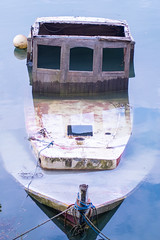 Exported-4499 (richardsolway) Tags: sea glass mirror boat sunken sunk penryn