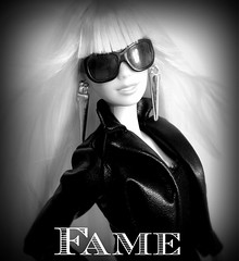Fame (dolldudemeow24) Tags: blue urban white black look lady dolls fame barbie jungle and gaga jumpsuit 2016