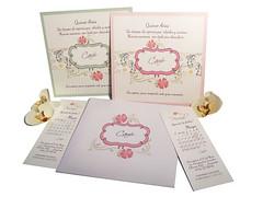 Invitacin 15 aos Encantada (Tarjetas Encantos) Tags: tarjeta 15 aos romantica calendario papel perlado colores