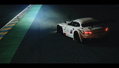 BMW Z4 GT3 (Thomas_982) Tags: auto white france cars night germany racing german bmw z4 gt6 granturismo gt3 ps3 sarthe gt5