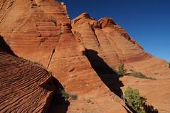 deposit, layer, shear, erode, etc. (rovingmagpie) Tags: utah sandstone dunes layers erode deposit shear silverreef sb2016