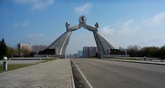 Arche de la réunification (jonathanung@ymail.com) Tags: lumix asia arch korea asie kp nord northkorea arche pyongyang corée dprk reunification cm1 koryo coréedunord réunification insidenorthkorea républiquepopulairedémocratiquedecorée rpdc lumixcm1
