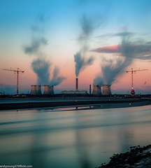 Fiddlers Ferry sunset (1 of 2) (andyyoung37) Tags: uk sunset england cheshire unitedkingdom gb runcorn fiddlersferrypowerstation