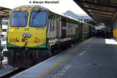 217 at Heuston, 16/5/16 (hurricanemk1c) Tags: dublin irish train gm rail railway trains railways irishrail 201 217 generalmotors heuston 2016 emd iarnrd ireann iarnrdireann 0920corkheuston