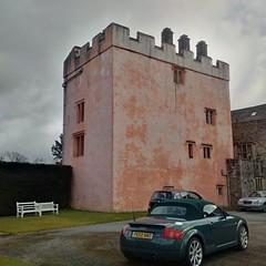 Isel Hall, near Keswick. The Pele Tower (gowersaint) Tags: england tower castle history cars home hall spring ancient britain medieval historic cumbria keep audi fortifications keswick pele springtime hha stately convertable isel donjon peletower