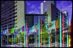 Flagstaff, Toronto 3-D ::: HDR/Raw Anaglyph Stereoscopy (Stereotron) Tags: urban toronto architecture modern radio canon eos stereoscopic stereophoto stereophotography 3d downtown raw control contemporary citylife streetphotography kitlens twin anaglyph flags financialdistrict stereo flagstaff stereoview to remote spatial 1855mm flagpole hdr nations redgreen tdot 3dglasses hdri transmitter flaggen stereoscopy synch anaglyphic optimized in threedimensional hogtown fahnen stereo3d thequeencity cr2 stereophotograph anabuilder thebigsmoke nationen synchron redcyan 3rddimension 3dimage fahnenmast tonemapping 3dphoto 550d torontonian stereophotomaker 3dstereo 3dpicture quietearth anaglyph3d yongnuo stereotron