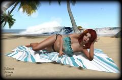 Seas the day (JuliannaSeriman) Tags: bikini secondlife swimsuit 1l beachwear dollarbie fabfree fabulouslyfreeinsecondlife fabulouslyfree huntsl perfectseduction juliannaseriman precastinc surfintosummerhunt