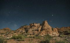 Sooner Rocks near Midnight (snowpeak) Tags: starphotography nikond800e starrylandscapestacker sigma2435f2art