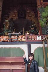 Nara, Mom and Me (Quad Dimensional Pictures) Tags: park japan garden march shrine tour treasure buddhist capital steps historic deer temples lanterns cherryblossoms nara buddah incense toriigate 2016 silkadeer johncarkeet marinacarkeet
