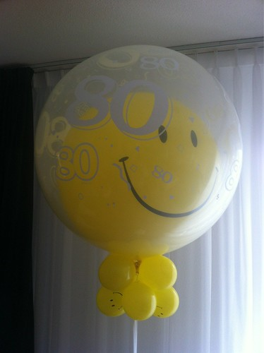 Cloudbuster Rond 80 Jaar Smiley Double Stuffed