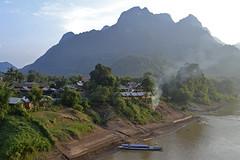 Nong Kiau ($teveA) Tags: travel mountain ferry river landscape boat nikon asia village explore ou laos nam indochina namou nongkiau d3100