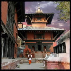 Discovering Yourself (designldg) Tags: nepal sunset sky people india man heritage architecture square temple colours faith religion culture atmosphere devotion varanasi nepalese shiva hindu hinduism kashi ganga ganges benaras uttarpradesh  indiasong lalitaghat kathwalatemple