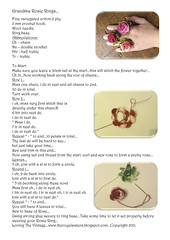 Grandma Rosie Ring Tutorial... (Loving The Vintage) Tags: grandma flower leaves rosie crochet ring howto pdf description tutorial theroyalsisters lovingthevintage
