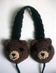 Berry the bear earmuffs (Mooy) Tags: bear brown cute animal shop fun handmade crochet teddybear kawaii etsy mooeyandfriends