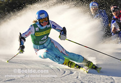 Aspen, CO - Nov 26: Tanja Poutiainen at the Audi Quattro FIS Women Giant Slalom Worldcup ski race in Aspen, CO on Nov 26, 2011 (www.beelde.com) Tags: winter usa snow ski sports race colorado skiing action fast worldcup aspen fis nov26 audiquattro 2011 skirace giantslalom skiracer tanjapoutiainen