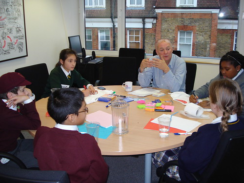 Children discuss policy at the OCC