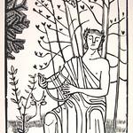 "<b>Singing Orpheus (Singender Orpheus)</b><br/> Gerhard Marcks (1889-1981) ""Singing Orpheus (Singender Orpheus)"" Woodcut, n.d. LFAC #2004:07:03<a href=""http://farm8.static.flickr.com/7152/6438622071_f9a612f4c6_o.jpg"" title=""High res"">∝</a>"
