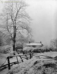 Poundswick Cottages, Wythenshawe, 1920 (archivesplus) Tags: winter snow cold ice manchester frozen freezing snowing wythenshawe mymcr