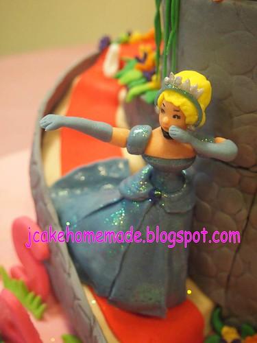 Swell Princess Cinderella Birthday Cake A Photo On Flickriver Birthday Cards Printable Riciscafe Filternl