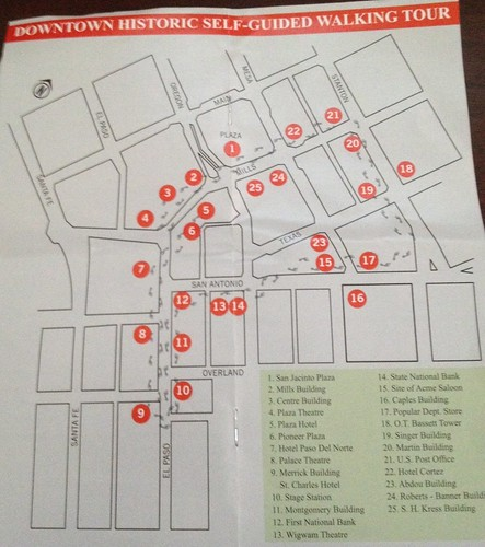 Downtown El Paso Map