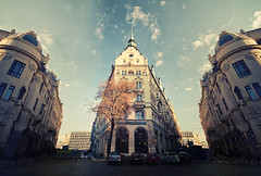 Hotel Pa (Philipp Klinger Photography) Tags: street old light shadow sky paris tree art cars car architecture hotel town nikon republic cross czech prague hi