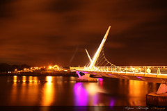 Night Time In Derry (Edzed Photography) Tags: bridge ireland night canon photography peace picture londonderry derry peacebridge 5dmark2 edgarlit