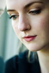 Listening to my heart (Kaat dg) Tags: portrait window girl self nikon d5100