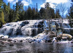 March 2011 (siskokid) Tags: trees sky nature up clouds waterfall michigan upperpeninsula yooper bondfalls paulding ontonagonriver omot