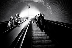 Stairs Life (Gerald Verdon) Tags: street leica people bw copyright portugal subway europe stair noiretblanc lisbon rangefinder fav20 nb m8 fav30 heliar fav10 geraldverdon