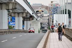 At the Center of Tappi-bashi (ykanazawa1999) Tags: bridge japan tokyo monorail tachikawa tamariver