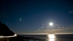 (Jiggs_) Tags: ocean light moon haven beach car night oregon stars sand highway long exposure tail fullmoon 101 headlight northern yachats lighttrail