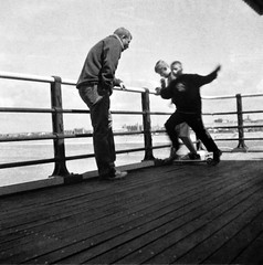 On Southport Pier (nickcoates74) Tags: eye pier seaside kodak hawk brownie southport boxcamera gp3 shanghaigp3 hawkeyeflash