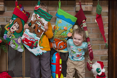 Stocking Peek-A-Boo #1 (Craig Dyni) Tags: christmas boy girl colin toddler finn madelyn alannah christmasstockings dyni