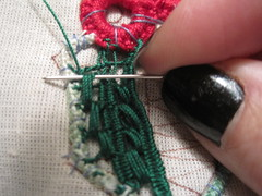 33 (sunshine's creations) Tags: christmas thread work point cord berries lace crochet holly needle romanian