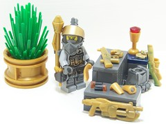 Space Mercenary (Silenced_pp7) Tags: shells brick cat gold ancient arms lego fig space alien mini off aliens barf figure warrior hunter vest minifig forge minifigs shotgun custom vignette figs merc minifigure moc bountyhunter m