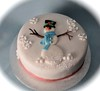 Another snowman cake (Cakes by Sonja) Tags: christmascake snowmancake richfruitcake cakesbysonja