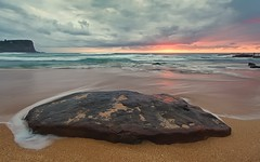 Avalon Beach [ EXPLORE ] (James.Breeze) Tags: ocean blue seascape beach water sunrise landscape sand rocks raw waves seascapes cloudy sydney australia nsw breeze reef saltwater northernbeaches beachsunrise jamesbreeze canonef14mmf28liiusm ef14mmf28liiusm
