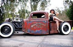 """Maggie Ratrod Pinup 3 (christopherallisonphotography) Tags: auto girls portrait lamp girl wheel vintage allison outdoors lights mirror model women automobile pretty dolls amy sony curves engine police retro tires bumper chrome blond blonde rockabilly hood motor """"el alpha gals viva pinup kustom a300 """"white """"classic cars"""" """"car """"san """"christopher """"hot show"""" diego"""" photography"""" light"""" rod"""" wall"""" """"natural """"model mayhem"""" kustomculture cajon"""" """"cops rodders"""""""