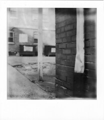 You've Left N 2 (artwpn) Tags: philadelphia polaroid sx70 outdoor instant landcamera instantphotography oldshit px100 impossibleproject theimpossibleproject