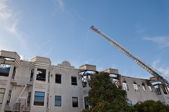 SF Apartment Fire, 12/22/2011