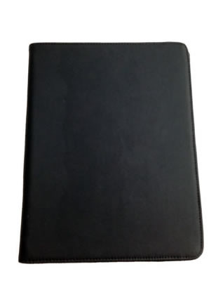 PU Soft Leather Folio Case for iPad 2 - Black