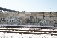 adek x gusto x ch (Into Space!) Tags: urban ny newyork graffiti li photo kade tracks longisland queens blank graff gusto bombing throw ch adek fill lewy kerse fillin btm throwie intospace intospaces