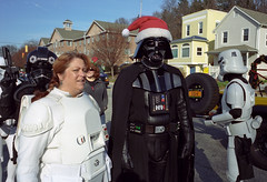 . (patrickjoust) Tags: santa christmas leica people usa storm trooper color film hat analog america 35mm person star us md focus holidays angle mechanical kodak cosina united voigtlander 28mm north wide patrick maryland rangefinder baltimore parade m mount celebration darth 100uc adapter stormtrooper konica 28 wars states manual vader frown expired joust range folks finder hampden prep cv preparations rf christmasparade estados hexar konicahexarrf kodak100uc c41 unidos f19 ultron m39 autaut voigtlanderultron28mmf19aspherical voigtlanderultron28mmf19 patrickjoust filmdarthvader