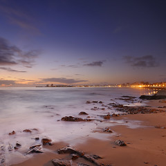 Baie des Sables d'Olonne  l'heure bleue ~ Vende ~ France (emvri85) Tags: longexposure sunset nature bluehour zf2 saariysqualitypictures mygearandme distagont3518