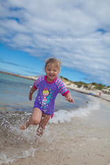 Child running at the beach, Australia (Robert Lang Photography) Tags: color colour beach water fun child australia running coastal splash southaustralia portlincoln eyrepeninsula