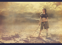 Blood and sand (Desire Delgado) Tags: portrait woman storm rome roma girl self fight blood sand desert arena tormenta desierto autorretrato sangre romana gladiator gladiador desireedelgado